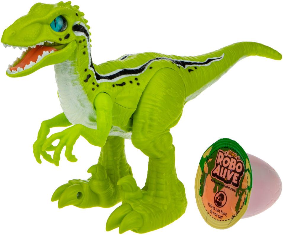 Игровой набор Zuru RoboAlive Робо-Тираннозавр зеленый + слайм