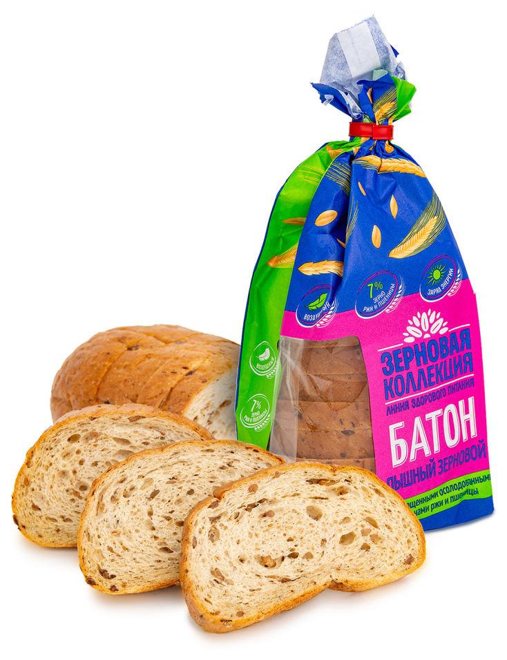Батон Волжский пекарь с проросшими зернами ржи и пшеницы 200г