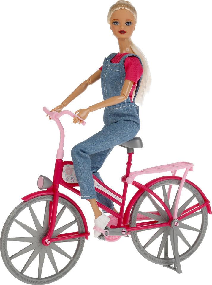 Кукла Shantou City София с велосипедом
