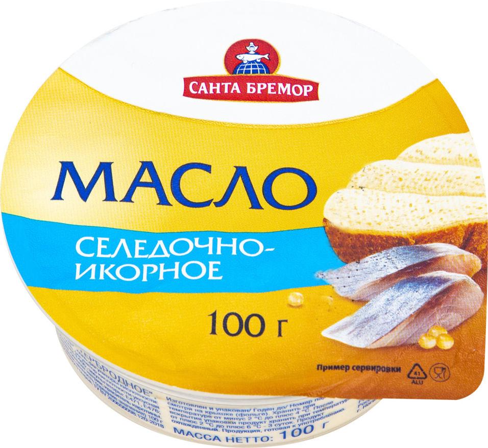 Масло Санта Бремор Селедочно-икорное 100г