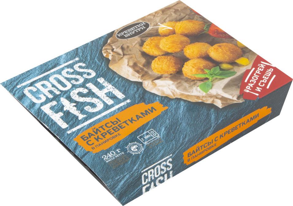 Байтсы Cross Fish с королевскими креветками в панировки 240г