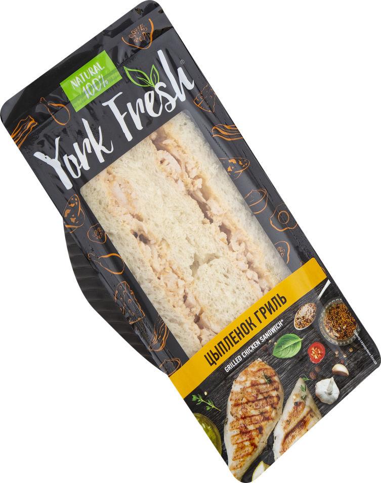 Сэндвич York Fresh с цыпленком гриль в пикантном соусе 150г