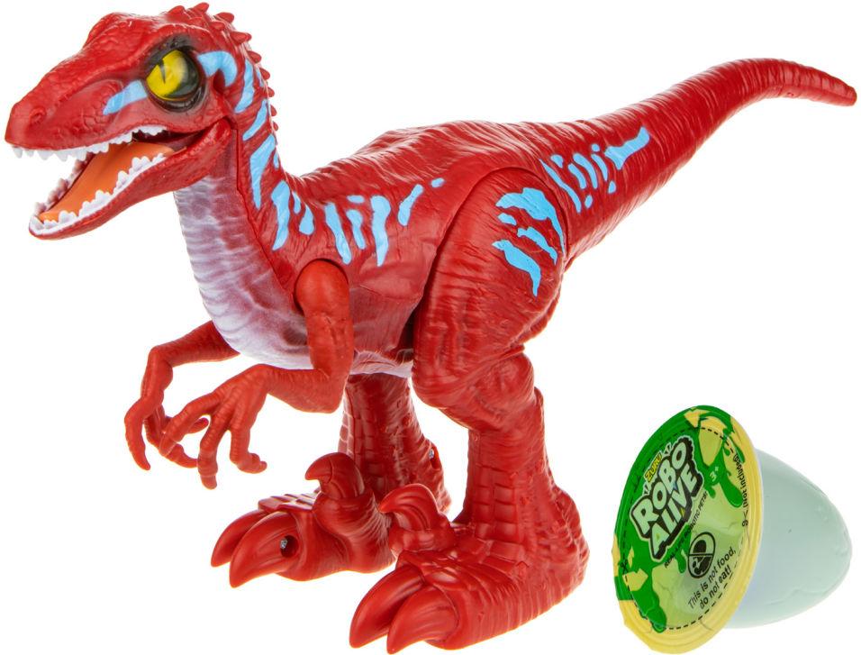 Игровой набор Zuru RoboAlive Робо-Тираннозавр красный + слайм