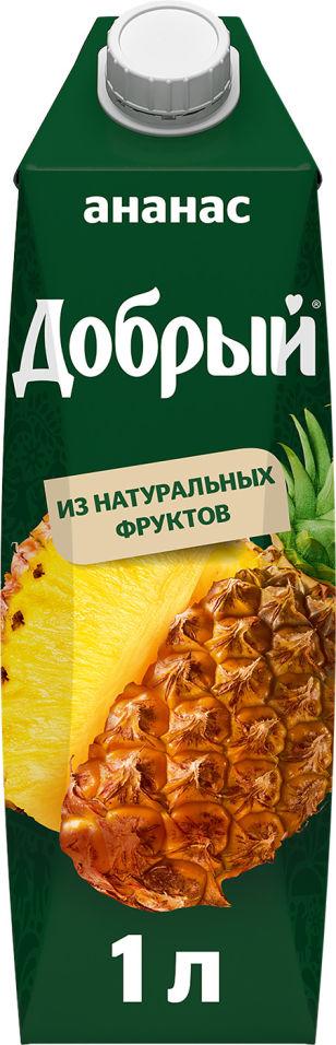 Нектар Добрый Ананасовый 1л (упаковка 12 шт.)