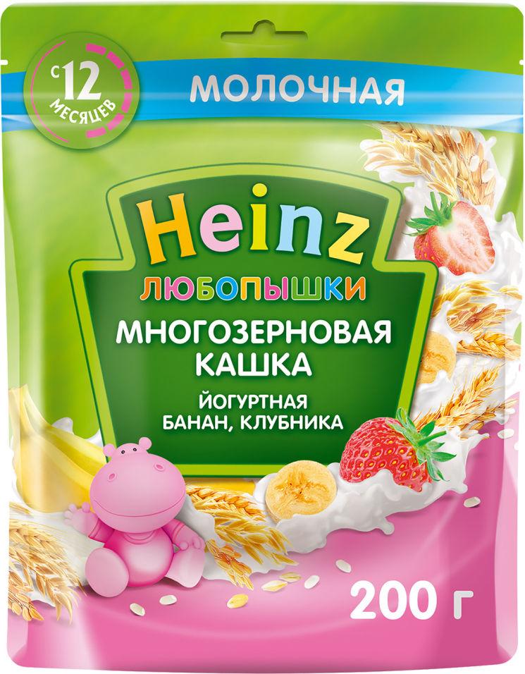 Каша Heinz Многозерновая Йогурт банан клубника 200г (упаковка 2 шт.)