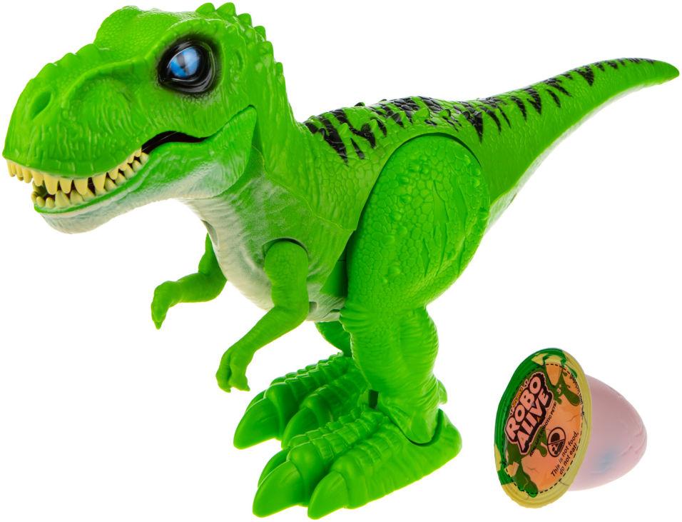 Игровой набор Zuru RoboAlive Робо-Тираннозавр зелёный + слайм