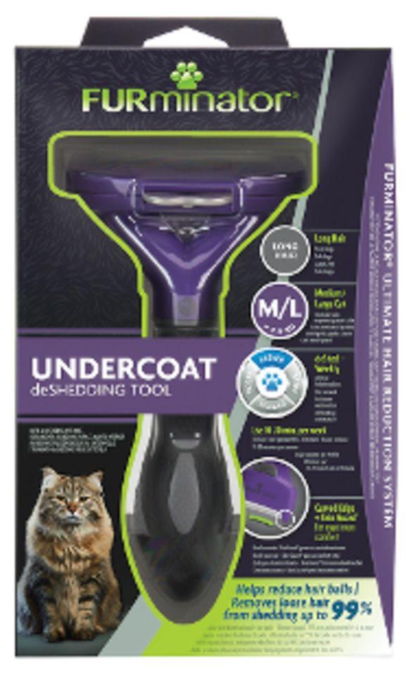 Фурминатор FURminator M L для больших кошек c длинной шерстью
