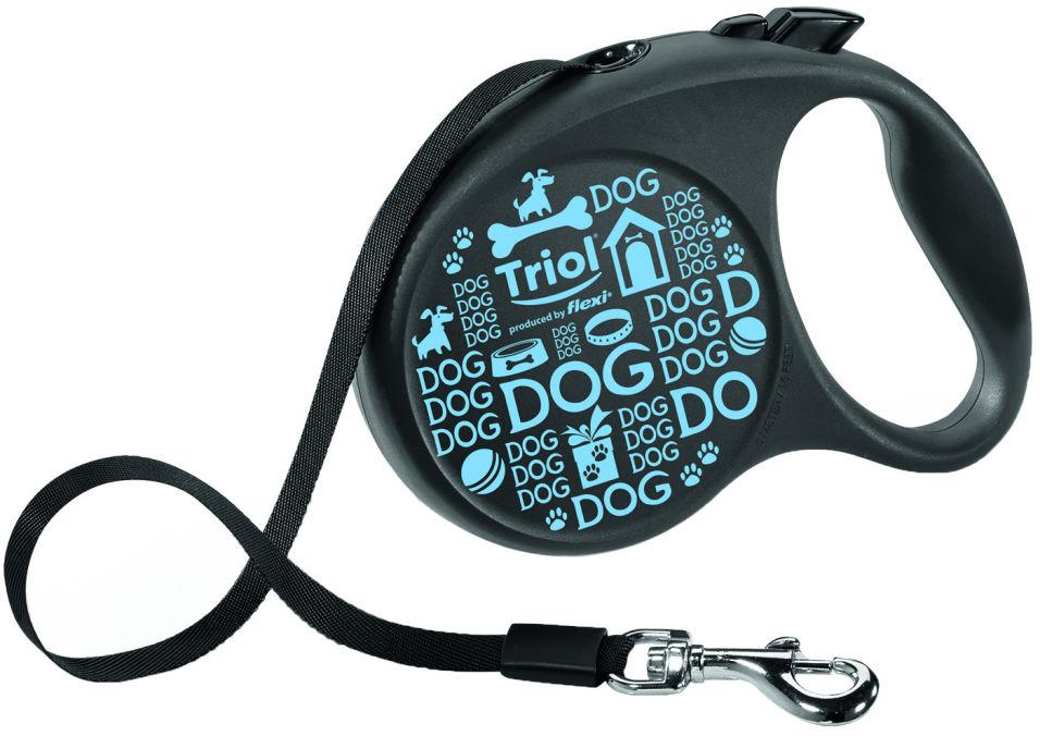 Поводок-рулетка для собак Triol Flexi до 50кг лента 5м