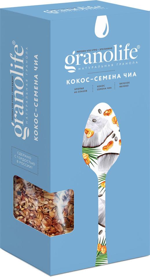 Гранола Granolife Кокос-семена чиа 200г