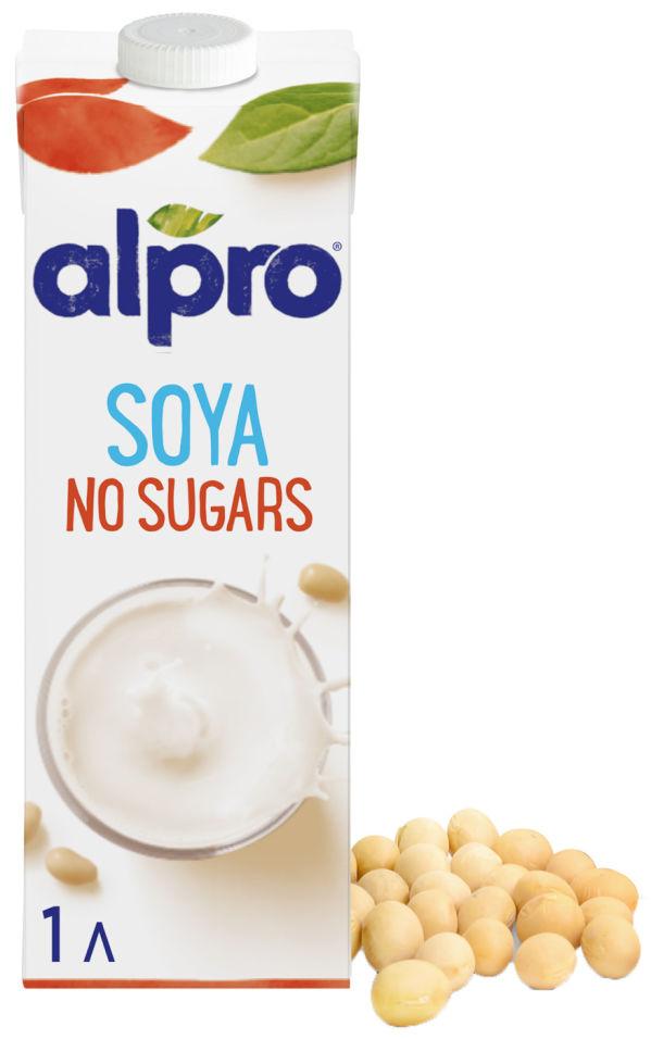 Напиток соевый Alpro Soya без сахара без глютена 1.8% 1л