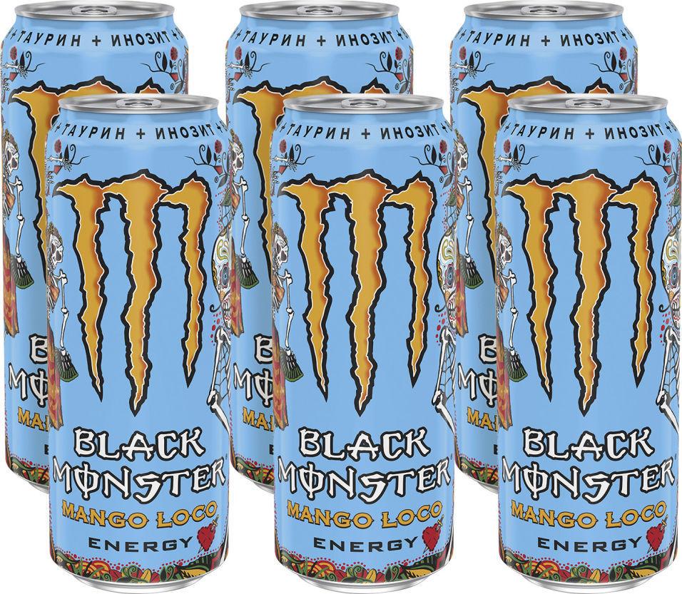Напиток энергетический Black Monster Mango Loco Energy 499мл (упаковка 12 шт.)