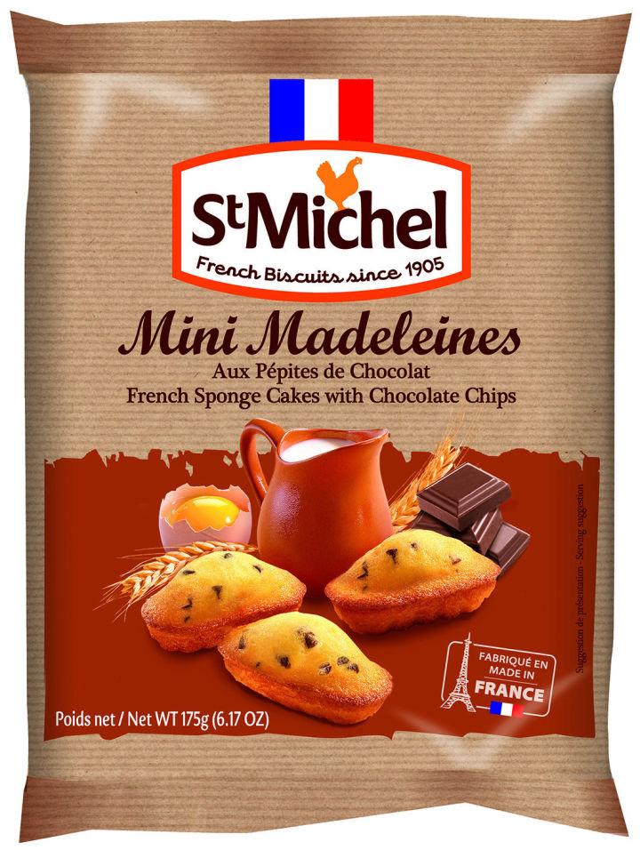 Бисквит St Michel Мадлен французский традиционный с кусочками шоколада 175г