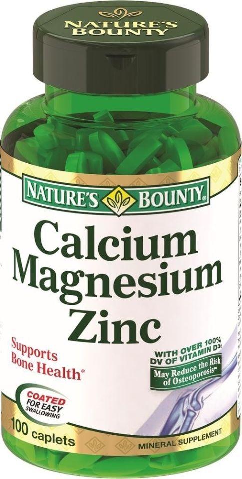 Витамины Nature's Bounty Кальций Магний Цинк 100 капсул