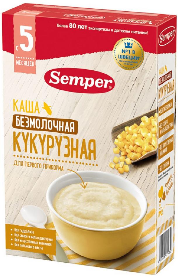 Каша Semper Кукурузная безмолочная с 5 месяцев 180г (упаковка 2 шт.)
