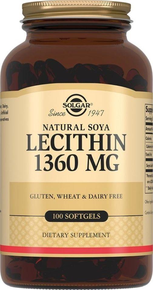 БАД Solgar соевый лецитин 100 капсул