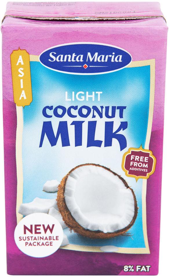 Молоко кокосовое Santa Maria Light coconut milk 8% 250мл