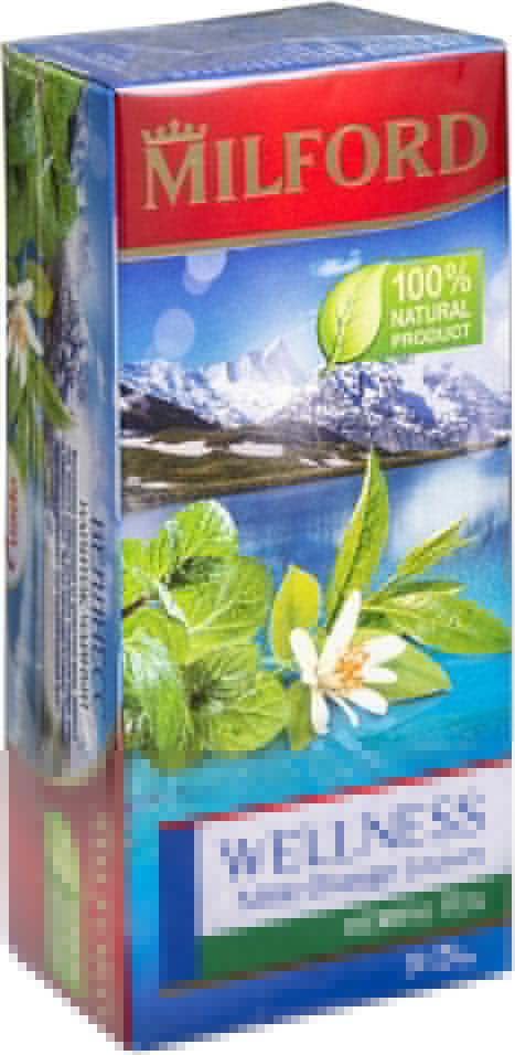 Чай травяной Milford Wellness Mint-Orange Leaves 20 пак (упаковка 3 шт.)