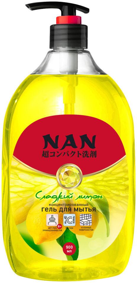 Средство для мытья посуды Nan Сладкий лимон 900мл