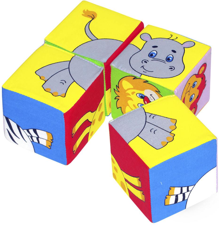 Игрушка развивающая Мякиши Собери картинку Животные-2 8*8см 4 кубика