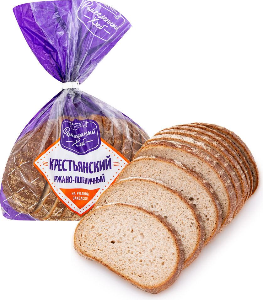 Хлеб Крестьянский Ремесленный хлеб ржано-пшеничный 400г