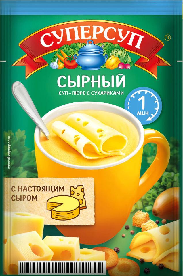 Суп-пюре Суперсуп Сырный с сухариками 19г