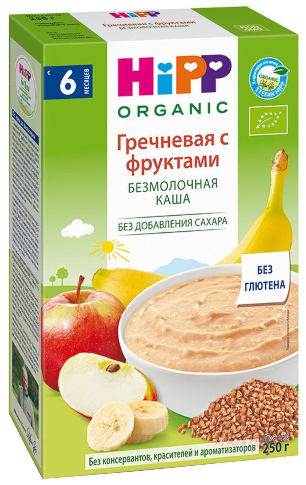 Каша HiPP Гречневая с фруктами безмолочная 200г (упаковка 2 шт.)