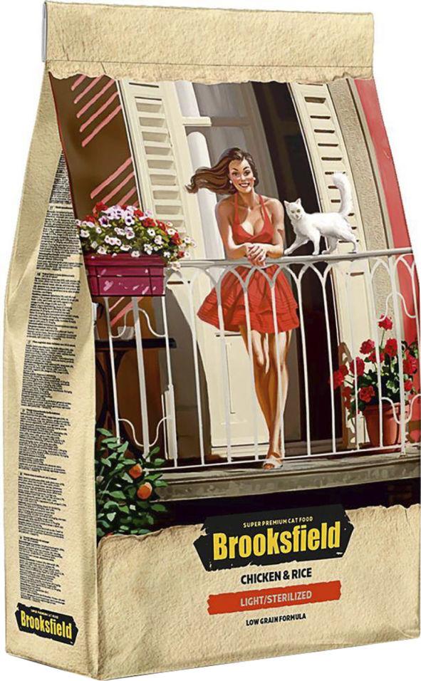 Отзывы о Сухом корме для кошек Brooksfield Adult Cat Light/Sterilized Chicken с курицей и рисом 2кг