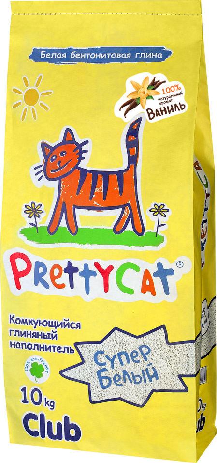 Наполнитель для кошачьего туалета PrettyCat Супер белый комкующийся Ваниль 10кг