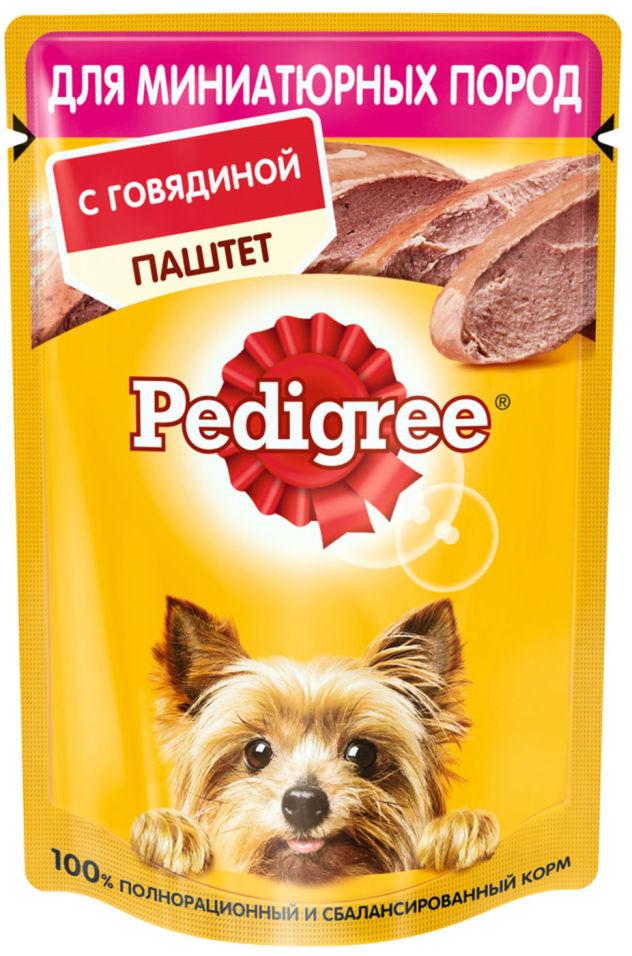 Паштет для собак Pedigree с говядиной 80г