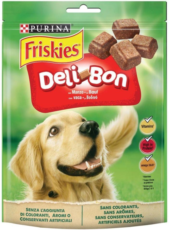 Лакомство для собак Friskies Deli-Bon с говядиной 130г