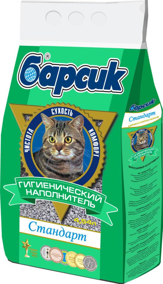 Наполнитель для кошачьего туалета Барсик Стандарт 4.54л