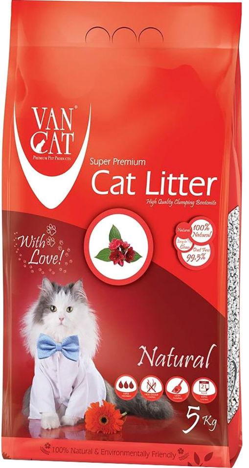 Наполнитель для кошачьего туалета Van Cat комкующийся 5кг