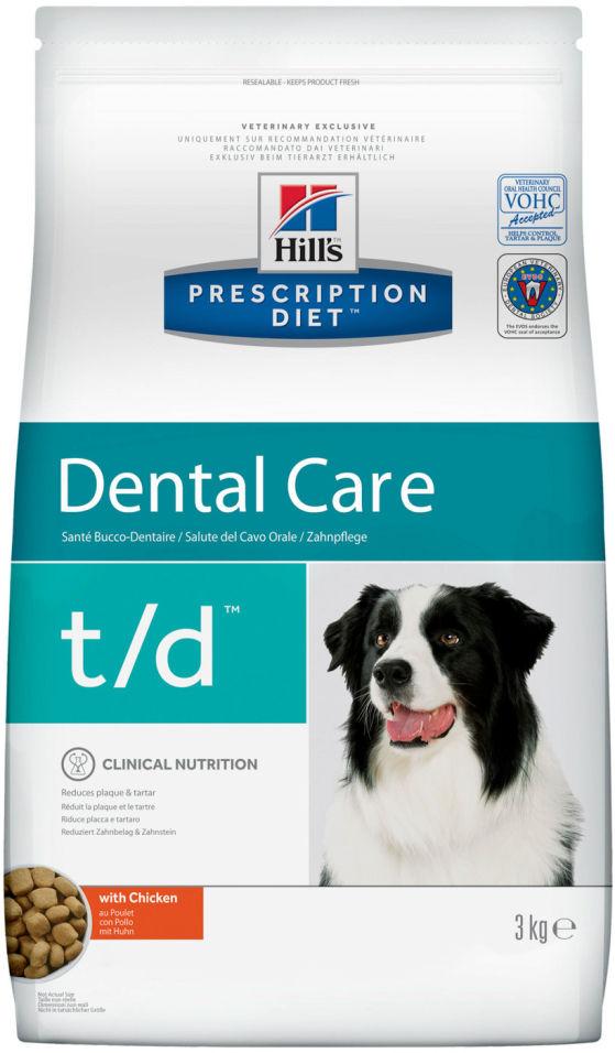 Сухой корм для собак Hills Prescription Diet при заболеваниях зубов и десен с курицей 3кг