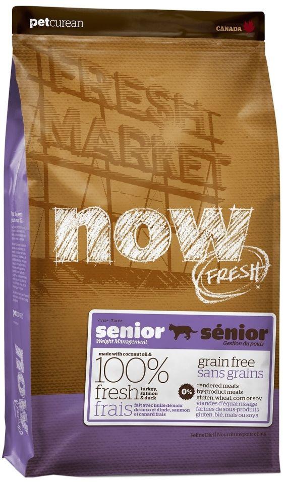 Сухой корм для пожилых кошек Now Fresh Senior Контроль веса беззерновой с индейкой уткой и овощами 7.26кг