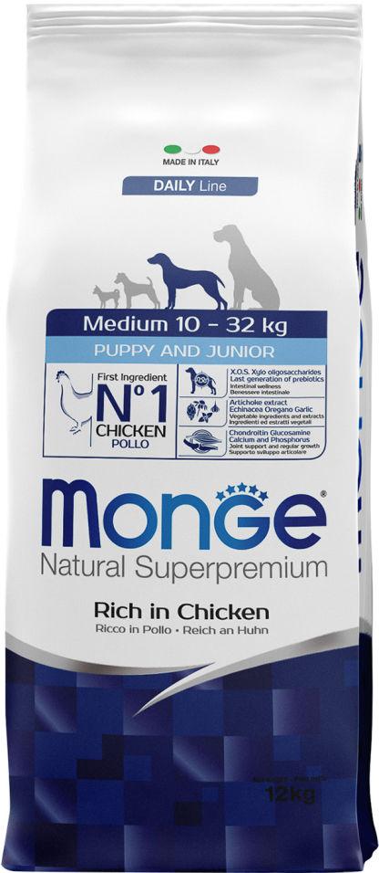 Отзывы о Корме для щенков Monge Dog Medium для средних пород 12кг