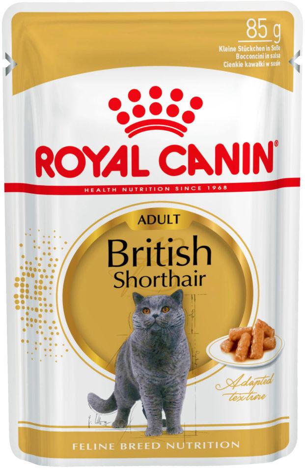 Отзывы о Корме для кошек Royal Canin British Shorthair Мясо в соусе 85г