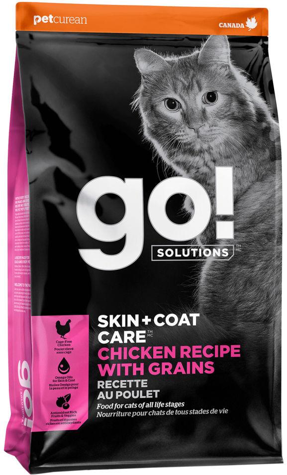 Сухой корм для кошек Go! с курицей фруктами и овощами 1.36кг