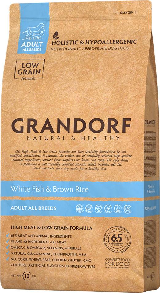 Отзывы о Сухом корме для собак Grandorf Adult all Рыба с рисом 12кг