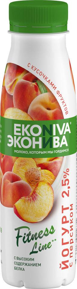 Отзывы о Йогурте питьевом ЭкоНива Fitness Line с персиком 2.5% 300г