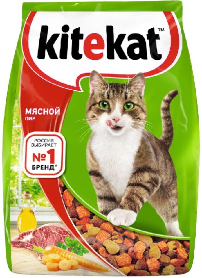 Сухой корм для кошек Kitekat Мясной Пир 350г