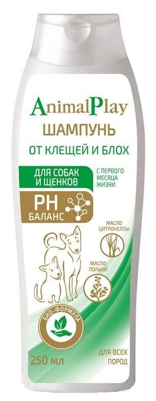 Шампунь для собак и щенков Animal Play от клещей и блох 250мл
