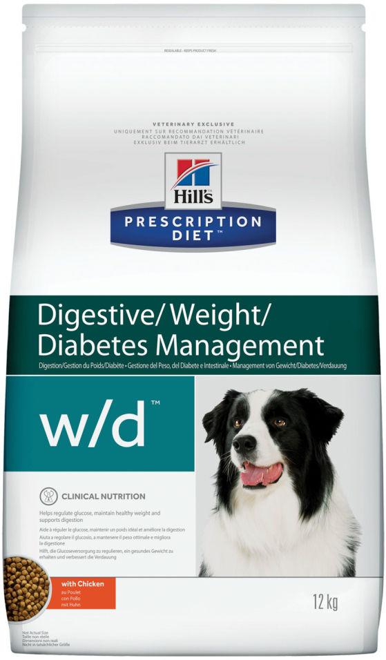 Сухой корм для собак Hills Prescription Diet при сахарном диабете при избыточном весе с курицей 12кг