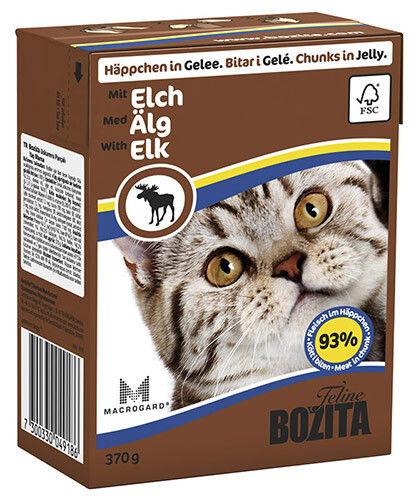 Отзывы о Корме для кошек Bozita Elk кусочки в желе с мясом лося 370г