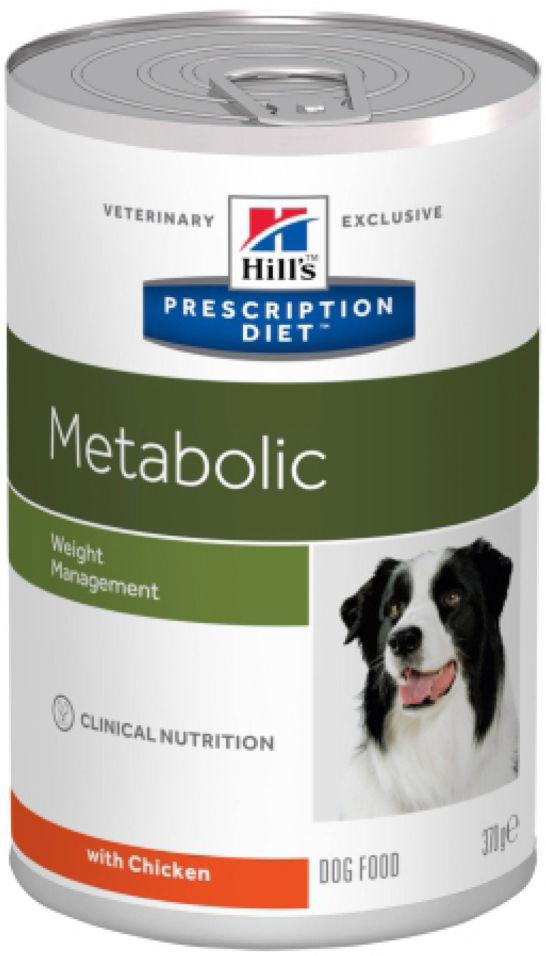 Влажный корм для собак Hills Prescription Diet Metabolic для снижения и контроля веса с курицей 370г