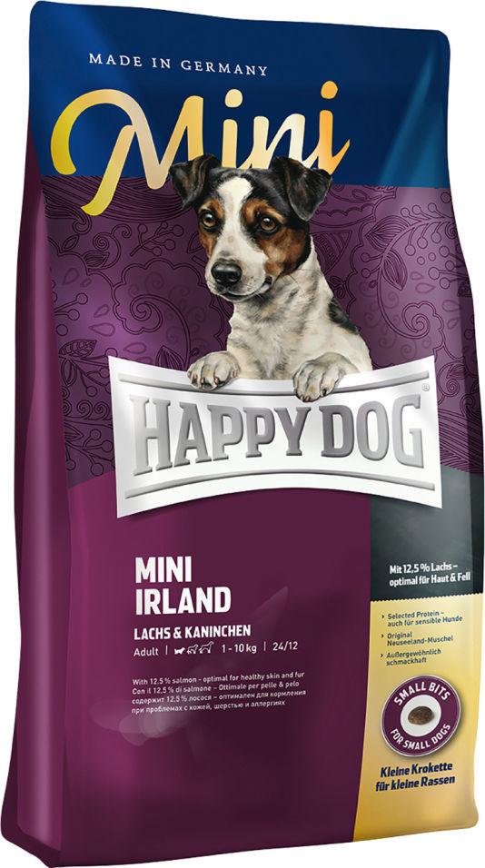 Сухой корм для взрослых собак Happy Dog Лосось и кролик 1кг