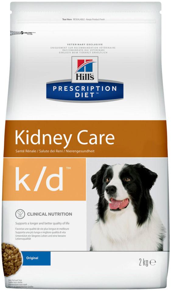 Сухой корм для собак Hills Prescription Diet при заболеваниях почек 2кг