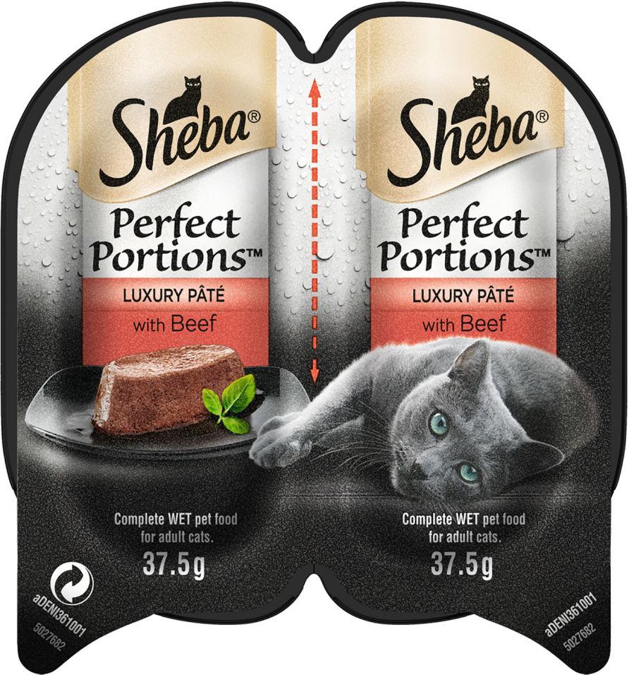 Корм для кошек Sheba Perfect Portion паштет с говядиной 2шт*37.5г