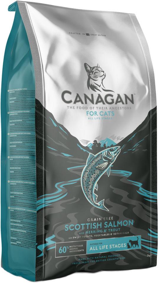 Сухой корм для кошек Canagan Scottish Salmon Лосось 375г