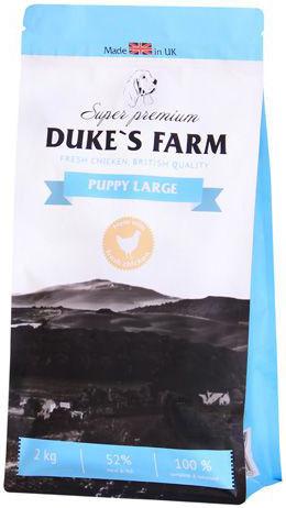 Сухой корм для щенков Dukes Farm Курица для крупных пород 2кг