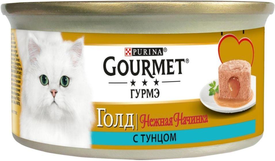 Корм для кошек Gourmet Gold Нежная начинка с тунцом 85г